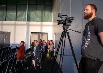 Filming at the Greater Manchester Cancer Conference